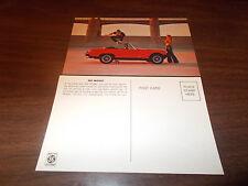 1977 MG Midget Advertising Postcard