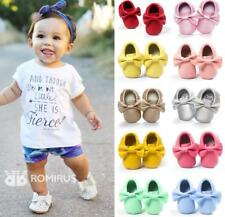 Soft Sole Newborn Baby Girls Pram Shoes Princess Pre Walker Trainers 0-18 Months