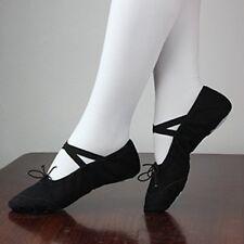 Child Girl Gymnastics Split-Sole Canvas Ballet Dance Shoes Slippers Pointe Dance