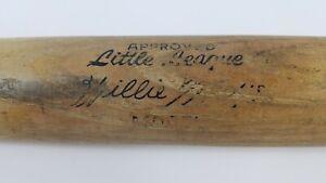 Willie Mays Adirondack Little League Wood Baseball Bat Vintage USA Made Wooden
