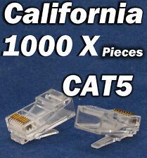 1000 Pcs RJ45 CAT5 CAT5E 8P8C Modular Network Cable LAN Connector End Plug LOT