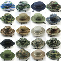 Bucket Hat Boonie Outdoor Cap Hunting Fishing Wide Brim Military Unisex Sun Camo