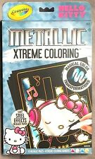 Hello Kitty Metallic Xtreme Coloring Shiny Steel Effects On Black Paper Crayola