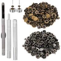 Bouton pression metal 25 pcs noir charcoal + 25 pcs bronzé 12mm + outil 4 pcs