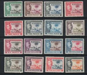 Gambia 1938 Complete Set of 16 MLH