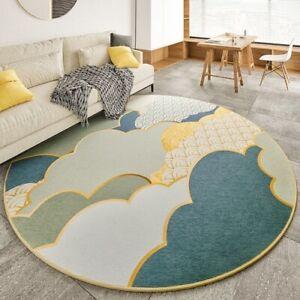 Nordic Chenille Round Carpet Rug Carpet Modern Minimalism Parlor Table Floor Mat