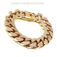 Miami Cuban Links D/VVS1 Diamond 14K Gold Over Bracelet Hip-hop Jewelry Curb