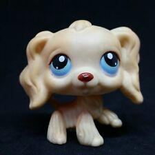 Littlest Pet Shop LPS #91 Yellow Cocker Spaniel Blue Eyes / Chien Epagneul