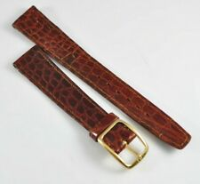 17mm Omega Vintage Band Strap Brown with Buckle