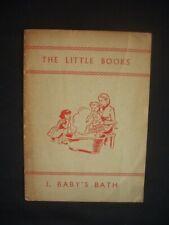 VINTAGE CHILDREN'S BOOK ~BABY'S BATH ~THE LITTLE BOOKS ~MACMILLAN ~1962
