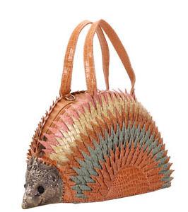Hedgehog Porcupine Design Handbag Top Handle Shoulder Bag Tote Satchel Purse