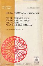DELLA ECONOMIA NAZIONALE... - GIAMMARIA ORTES - MARZORATI, 1970