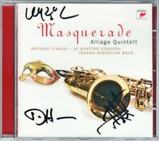 ALLIAGE QUINTETT Signiert MASQUERADE: VIVALDI Four Seasons BACH Saxophone Qt CD