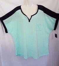 'MILLERS' - BNWT - Plus Size 22 - Blue/Aqua, Short Sleeve Top