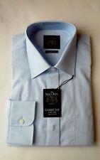 "Mens Formal Shirt - The Savile Row Company 100% Cotton: Blue 16"" BNWT"