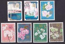 JAPAN 2012 C2111 Japanese Cherry Blossom 日本赠送美国樱花百年纪念 stamps 7v USED