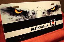 BESIKTAS JK FOOTBALL (SOCCER) METAL LICENSE PLATE FOR CARS.... KARAKARTAL