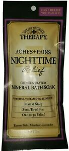 Village Naturals Therapy Aches + Pains NIGHTTIME Relief MINERAL BATH SOAK