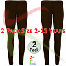 2 PACK Girls Ankle Length Stretch Fit Cotton Chocolate Leggings Casual 2-13 YRS