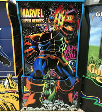 Arcade1up Cabinet Riser Graphics - Marvel Super Heroes THANOS Sticker Decal Set