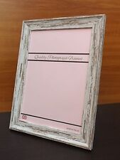 Distressed White/Light Wood Finish Photo/Picture Frame - All Sizes available