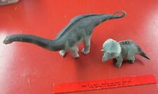 Dinosaur models--large Brontosaurus from Galaxy and unknown Triceratops