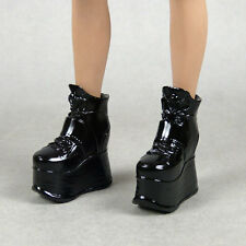 1/6 Phicen, Hot Toys, Kumik, Zy - Female Glossy Black High Platform Wedge Boots
