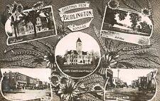RPPC,Burlington,Kansas,5 Views,Street Scenes,Coffey County,Used,Burlington,1910