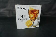 """Libbey 4pc Classic Goblet 16oz glass set 7"""" tall drinking cup wet bar home decor"""