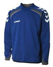 HUMMEL TEAM SPIRIT TRAINING SWEAT TRUE BLUE/GREY AGE 14/16/176cm BNWT RRP £28.