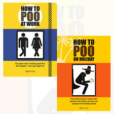 Mats & Enzo Collection How to Poo 2 Books Set ,How to Poo at Work, on Holiday