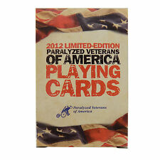 Paralyzed VETERANS of America PLAYING CARDS 2012 Limited Edition Military POKER