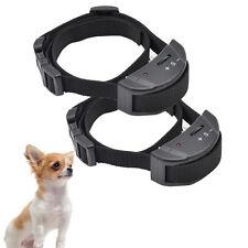 2 x Electric Anti Barking E-Collar No Bark Small Dog Shock Training Collar