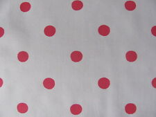 Cath Kidston FQ 50cm square Large red Spot on White lightweight cotton fabric
