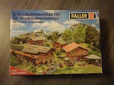 Faller Set Sommer in den Bergen 5 Gebäudebausätze HO 1:87 für Modelleisenbahnen