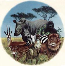"African Animals 1 pc 7-3/4"" Waterslide Ceramic Decal Xx"