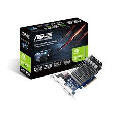 NEW ASUS GeForce GT710 2GB DDR3 710-2-SL PCI-E Silent Video Card HDMI VGA DVI