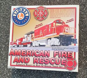 ThriftCHI ~ Lionel American Fire and Rescue O-Scale Train Set NIB