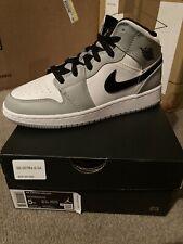 Nike Air Jordan 1 Mid GS Light Smoke Grey Black White 554725-092 SZ 5Y IN HAND