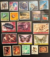 AJMAN LOT OF 58 CINDERELLA STAMPS SPACE, ROSES, SOCCER, OLYMPICS ANIMALS