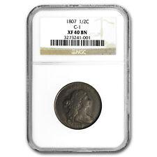 1807 Half Cent Xf-40 Ngc