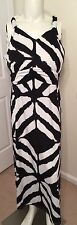 Women's Dress Plus Size 22 24 Ashley Stewart Halter Zebra Striped Black White