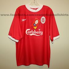"BNWT Liverpool FC 1998-2000 home football shirt Reebok Large 42/44"" rare vintage"