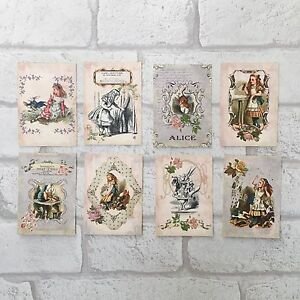 Vintage Style Alice In Wonderland Card Toppers, Gift Tags Craft Make Your Own