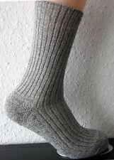 3 Paar Norwegersocken 100% Wolle Wandersocken mit Plüschsohle grau XXL 47 - 50