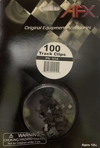 AFX 1014 Track Clips 100 Pack.  Brand New In Packaging.