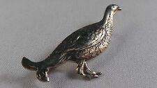 NICE STERLING SILVER GAME BIRD PHEASANT / GROUSE / PARTRIDGE / PIN