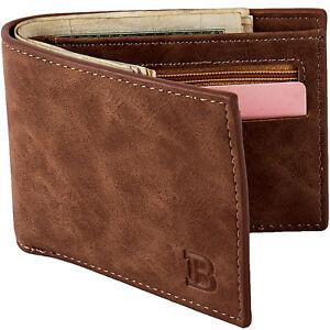 Luxury Leather Men's Purse Card Pocket Men's Zipper Money Clip Short Wallet