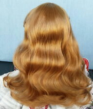 "DENISE Wig 12-13"", Lt. Ginger, Long wavy w/smooth Bangs, Full Cap, by Monique"