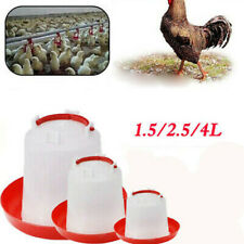 1.5L Waterer Feeder Bird Plastic Poultry Chicken Water Drinker Automatic Tools